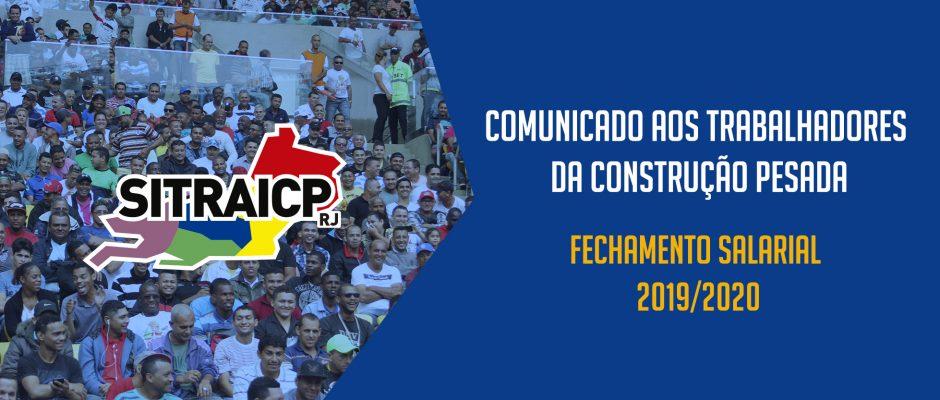 FECHAMENTO SALARIAL  2019-2020